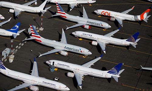 Các máy bay Boeing 737 MAX tại Boeing Field ở Seattle, Washington, Mỹ ngày 1/7. Ảnh: Reuters.