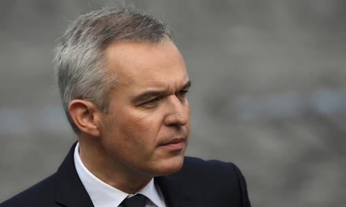 Bộ trưởng Môi trường Pháp Francois de Rugy trong lễ duyệt binh mừng quốc khánh tại Paris hôm 14/7. Ảnh: AFP.