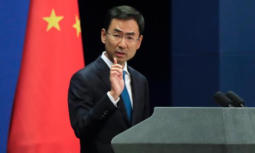 Phát ngôn viên Bộ Ngoại giao Trung Quốc Cảnh Sảng. Ảnh: AP.