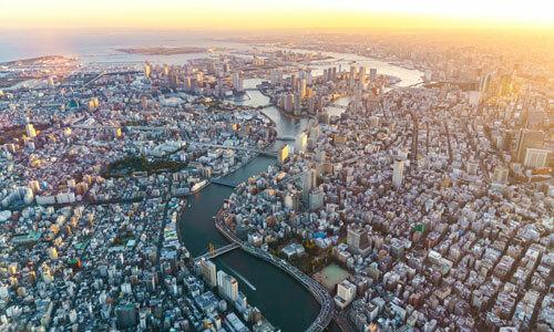 Tokyo nhìn từ trên cao. Ảnh: Skytree.