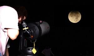 Ngắm nguyệt thực một phần tại đài thiên văn lớn nhất miền Bắc