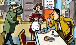 Vì sao thám tử biết cô hầu bàn lừa khách hàng?