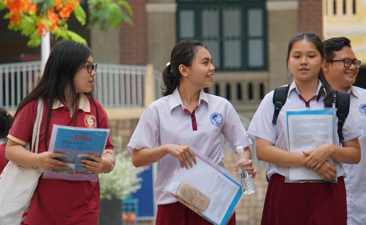 Thí sinh TP HCM dự thi THPT quốc gia 2019. Ảnh: Mạnh Tùng.
