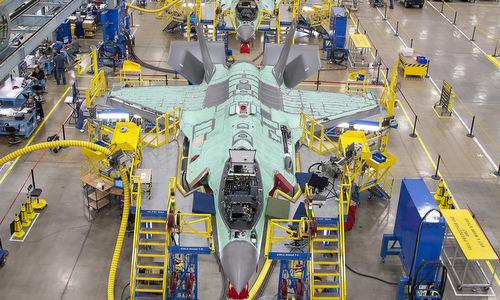 Tiêm kích F-35 trong dây chuyền lắp ráp ở Mỹ. Ảnh: Lockheed Martin.