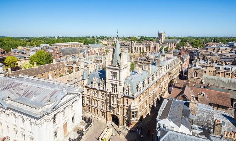 Đại học Cambridge, vương quốc Anh. Ảnh:eye35/Alamy Stock Photo