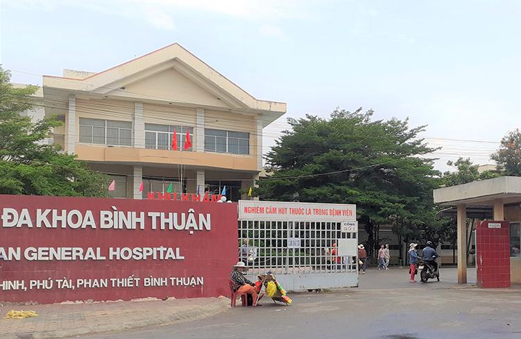 Bệnh viện Đa khoa Bình Thuận. Ảnh: Tư Huynh.