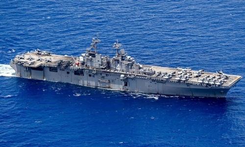 Tàu USS Boxer tại Thái Bình Dương hồi tháng 5. Ảnh: US Navy.