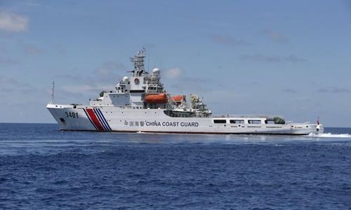 Một tàu hải cảnh của Trung Quốc trên Biển Đông. Ảnh: Reuters.