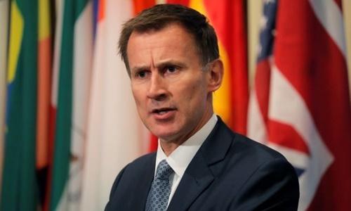 Ngoại trưởng Anh Jeremy Hunt. Ảnh: Reuters.