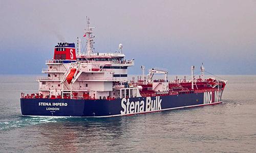 Tàu dầu Stena Impero. Ảnh: Reuters.
