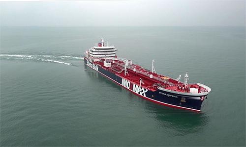 Tàu dầu Stena Impero. Ảnh: SkyNews