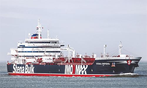 Tàu dầu Stena Impero. Ảnh: AFP.