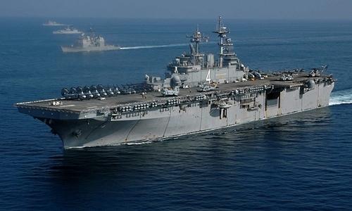 Tàu đổ bộUSS Boxer. Ảnh: US Navy.