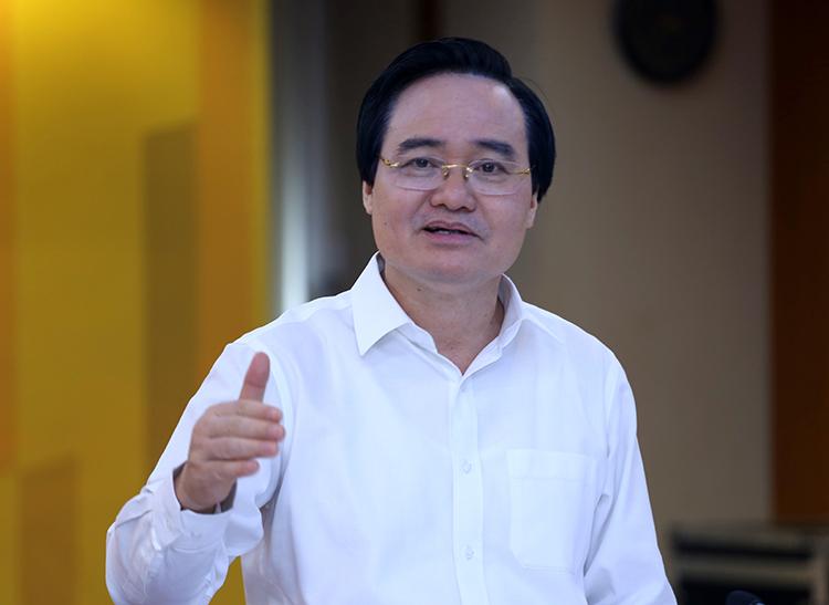 Bộ trưởng Phùng Xuân Nhạ phát biểu tại toạ đàm. Ảnh: Trung tâm truyền thông giáo dục