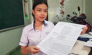 Thí sinh nhận đề thi giấy A3 được miễn học phí đại học