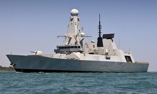 Tàu khu trục phòng không HMS Duncan của Anh. Ảnh: Royal Navy.