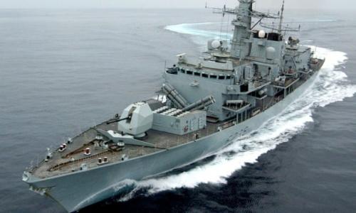 Tàu hộ vệ HMS Montrose của Hải quân Anh. Ảnh: AFP.