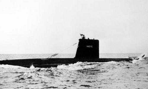 Tàu ngầm Minerve trong một chuyến tuần tra năm 1964. Ảnh: BBC.