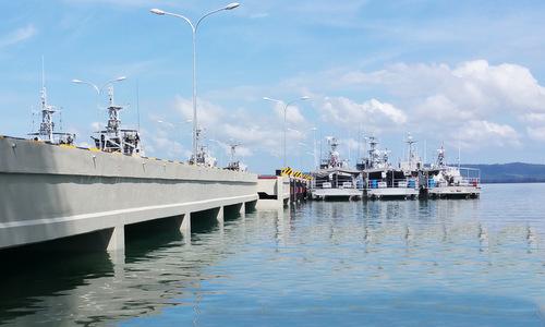 Khu vực cầu cảng thuộc căn cứ Ream. Ảnh: RCN.