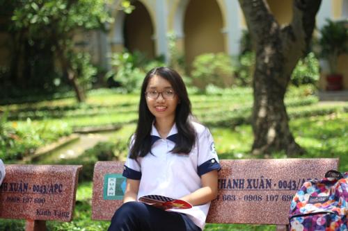 Lê Hồng Ngân, sinh viên ngành Quản trị kinh doanh tại Viện Đào tạo Quốc tế (ĐHQG TPHCM) khóa 2017.