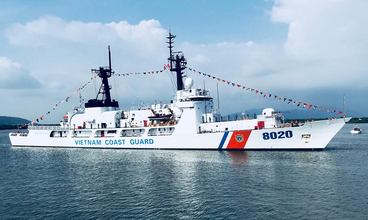 Tuần duyên Mỹ cam kết hợp tác chặt chẽ với Cảnh sát biển Việt Nam