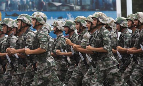 Quân Giải phóng Nhân dân Trung Quốc đồn trú tại Hong Kong. Ảnh: SCMP.