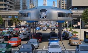 Nga thiết kế ôtô di chuyển trên cao tránh kẹt xe