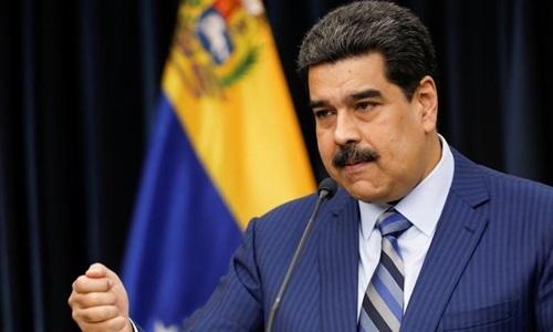 Tổng thống Nicolas Maduro trong cuộc họp báo tại Cung điện Miraflores, Caracas, ngày 12/12/2018. Ảnh: Reuters