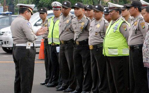Cảnh sát Indonesia. Ảnh: AFP.