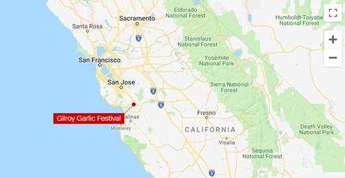 Vị trí xảy ra vụ xả súng ở bang California, Mỹ hôm 28/7. Đồ họa: Google Maps.