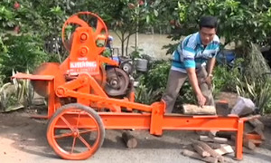 Máy chẻ củi di động của thợ cơ khí An Giang