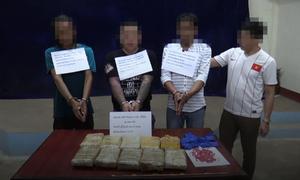 Biên phòng Hà Tĩnh bắt nhóm vận chuyển ma túy