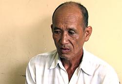 Nguyễn Hoàng Long tại cơ quan điều tra. Ảnh: An Bình