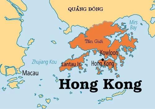 Vị trí tỉnh Quảng Đông và đặc khu Hong Kong của Trung Quốc. Đồ họa: OW.