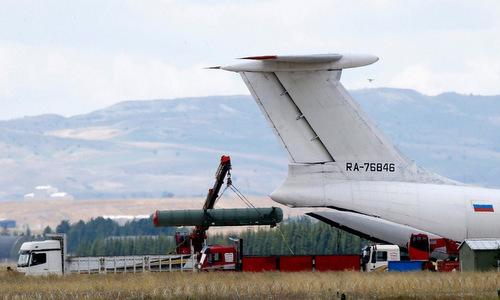 Đạn tên lửa S-400 được Nga chuyển giao cho Thổ Nhĩ Kỳ. Ảnh: Bộ Quốc phòng Nga.