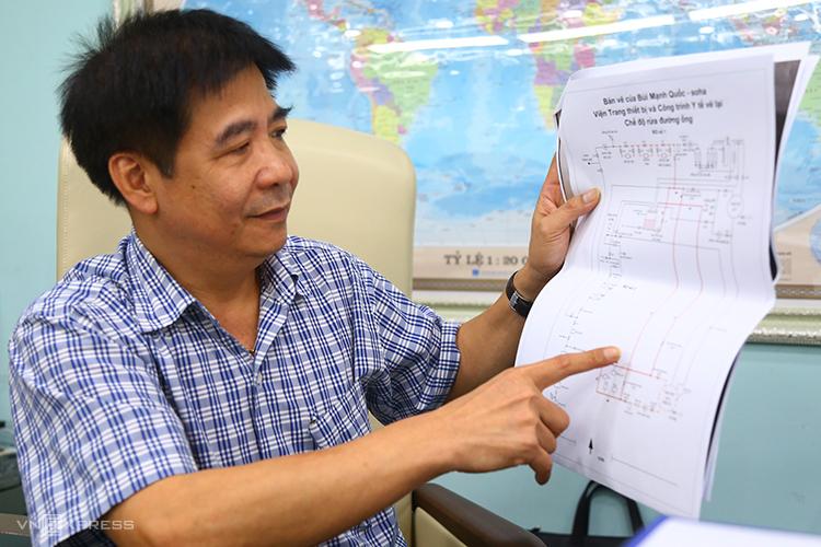 Tiến sĩ Lê Thanh Hải đại diện nhóm nhà khoa học lý giải nguyên nhân mới. Ảnh: Phạm Dự.