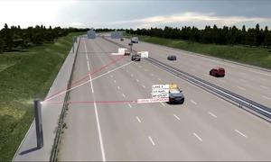Tháp radar kiểm soát tốc độ ôtô ở Pháp