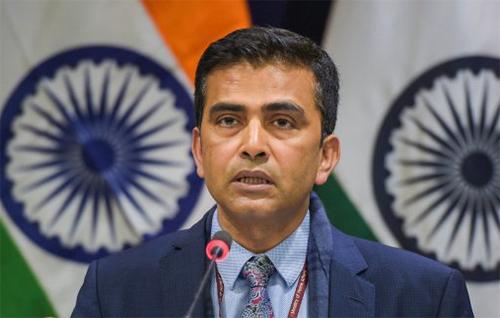 Người phát ngôn Bộ Ngoại giao Ấn Độ Raveesh Kumar. Ảnh: India Today.