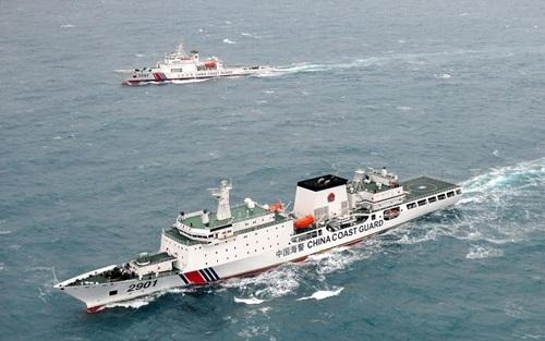 Các tàu hải cảnh của Trung Quốc. Ảnh: Manila Journo.
