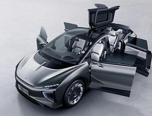 HiPhi 1 có thiết kế cửa xe đặc biệt, với nhiều kiểu mở khác nhau.