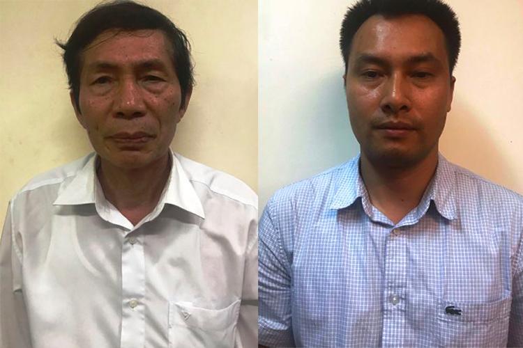 Bị can Lâm Chí Quang và Nguyễn Mạnh Chung. Ảnh: Bộ Công an