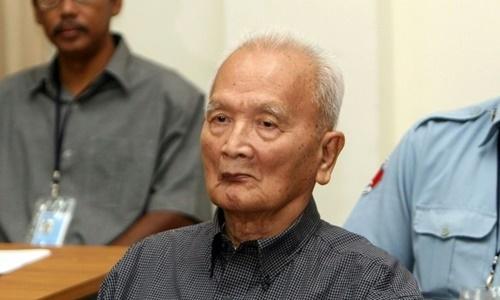 Thủ lĩnh số hai của Khmer Đỏ Nuon Chea. Ảnh: AFP.