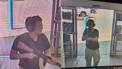 Hình ảnh nghi phạm trên máy quay an ninh trước khi bắt đầu vụ xả súng. Ảnh:Twitter.