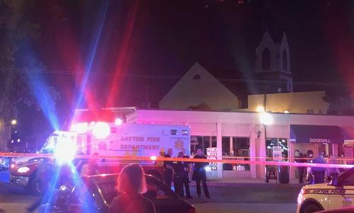 Hiện trường vụ xả súng rạng sáng 4/8 tại bang Ohio. Ảnh: WDTN.