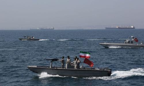 Các xuồng tấn công cao tốc của Lực lượng Vệ binh Cách mạng Hồi giáo Iran. Ảnh: AFP.