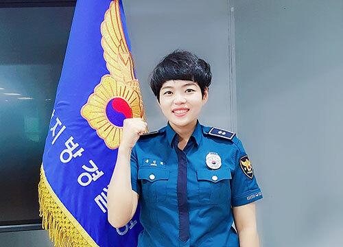 Nguyễn Hồng Minh hiện là nhân viênsở cảnh sát huyện Jangseong, tỉnh Jeolla Nam. Ảnh: Nhân vật cung cấp