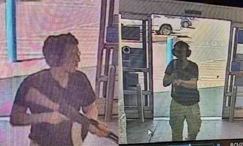 Hình ảnh nghi phạm được máy quay an ninh ghi lại trong vụ xả súng. Ảnh: Twitter.