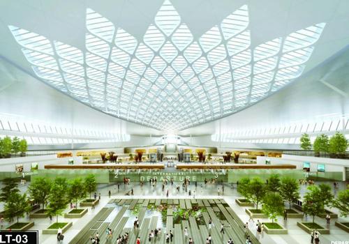 Phối cảnh bên trong nhà ga sân bay Long Thành.