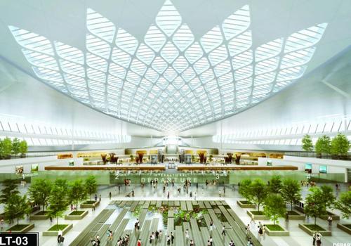 Nhà ga sân bay Long Thành sẽ có thác nước, sân vườn