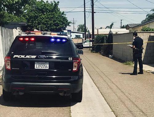Cảnh sát làm việc tại hiện trường vụ nổ súng khiến người gốc Việt thiệt mạng ở thành phố Garden Grove, bang California hôm 4/8. Ảnh: Garden Grove Police